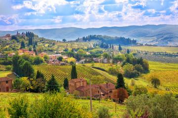 Panel Szklany Podświetlane Toskania Tuscany landscape