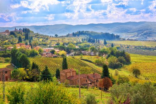 Canvas Prints Honey Tuscany landscape