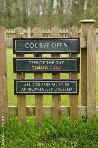 Fotografie, Tablou  golf tee