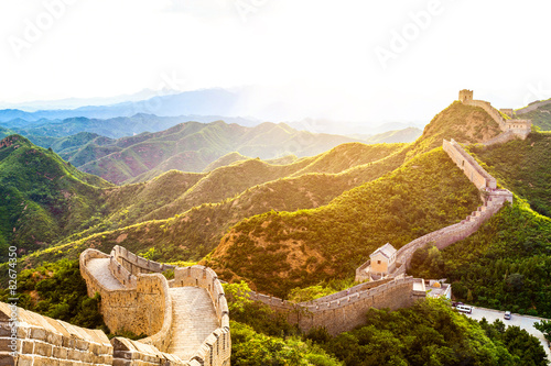 great wall the landmark of china and  beijing Canvas Print
