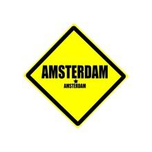 Amsterdam Black Stamp Text On ...