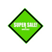 Super Sale  White Stamp Text On Green Background