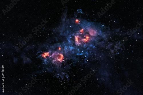 Glowing nebula Poster