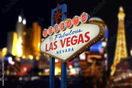 Poster Las Vegas Welcome to Fabulous Las Vegas Neon Sign