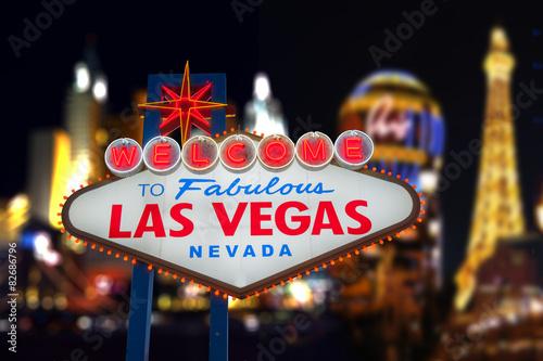Poster Las Vegas Welcome to Fabulous Las Vegas Neon Sign