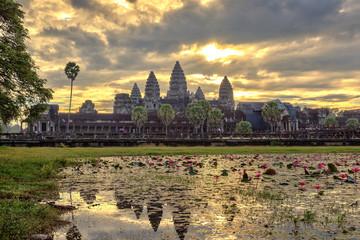 Fototapeta samoprzylepna Sunrise at Angkor Wat Temple, Siem Reap, Cambodia