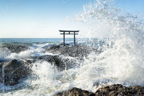 Fototapeta Tsunami na japońskim wybrzeżu