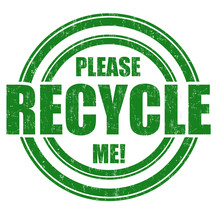Please Recycle Me Stamp