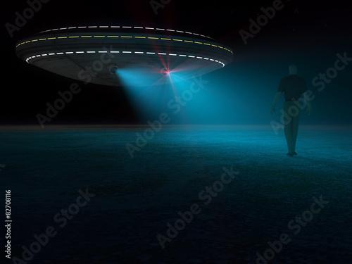 Fototapeta UFO i porwanie człowieka