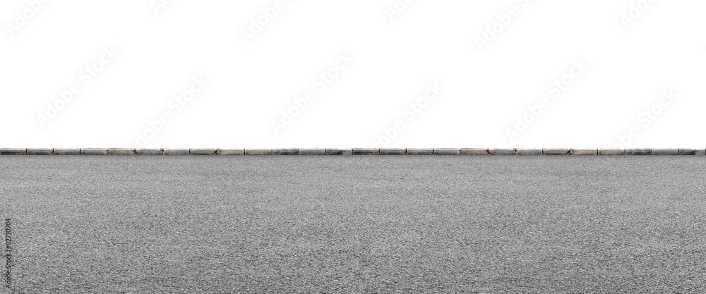 Fototapeta Roadside on white