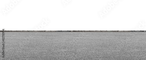 Fotografiet  Roadside on white