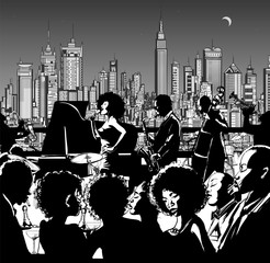 Jazz music band performing in New York