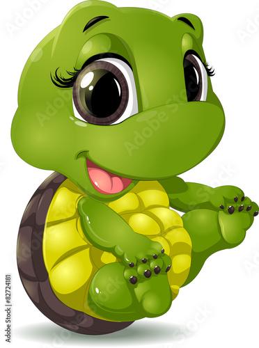 fototapeta na drzwi i meble Mały żółw