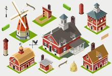 Isometric Great American Barn ...
