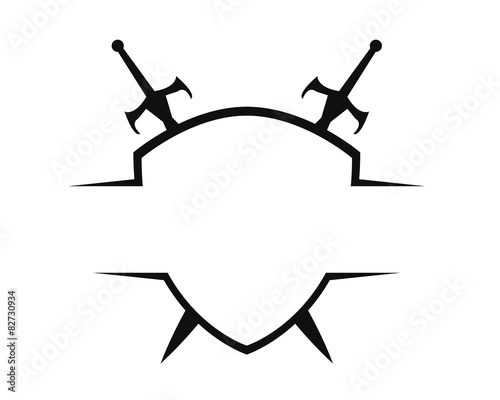 Sword shield logo template buy this stock vector and explore sword shield logo template maxwellsz