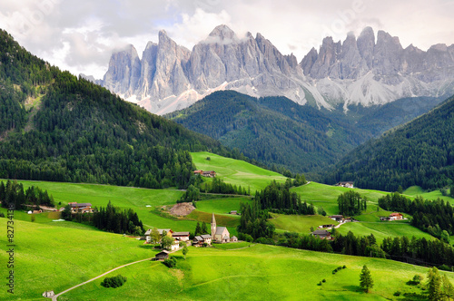 Funes valley, Italy Canvas