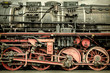 Retro styled image of an old steam locomotive