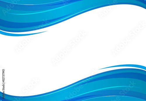 Poster Abstract wave Background with blue waves