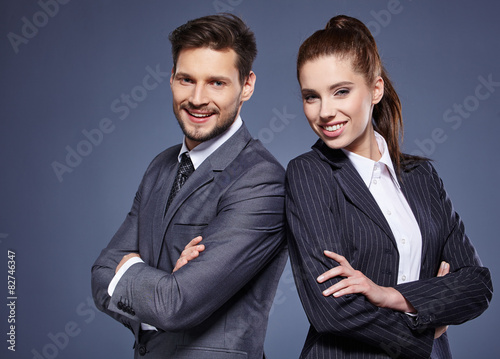 Photo  Portrait of  business people