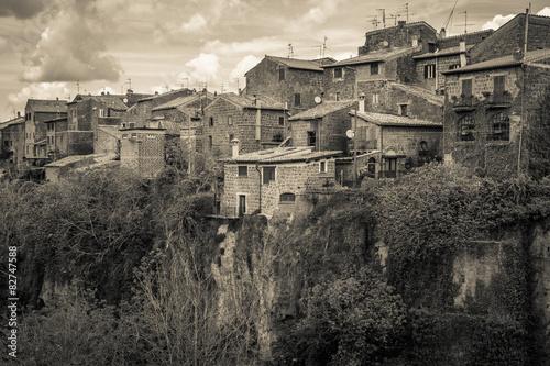 Antico villaggio laziale in Italia Billede på lærred