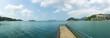 Island mountain on the sea