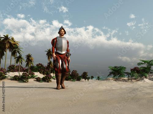 Fotografía  Conquistador europeo en América