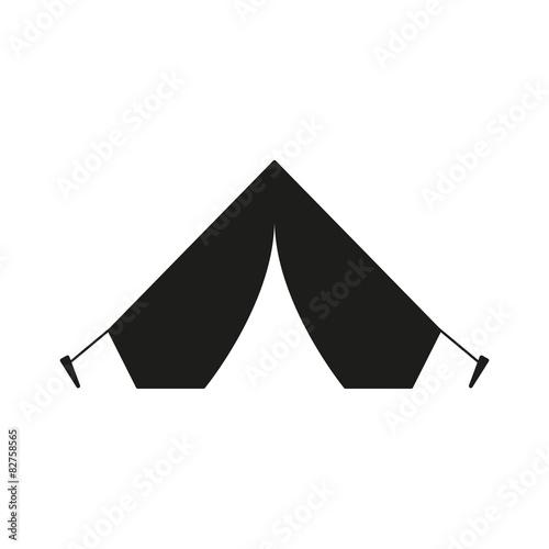 Fototapeta The tent icon. Travel symbol. Flat obraz