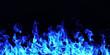 Leinwandbild Motiv burning fire flame on black background