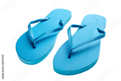 c725e9719c5 Blue flip-flops isolated - Buy this stock photo and explore similar ...
