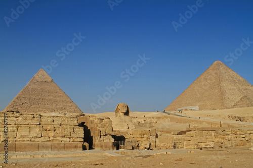 In de dag Egypte Die Pyramiden von Gizeh in Ägypten