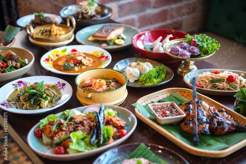 Thai foods. Fototapete