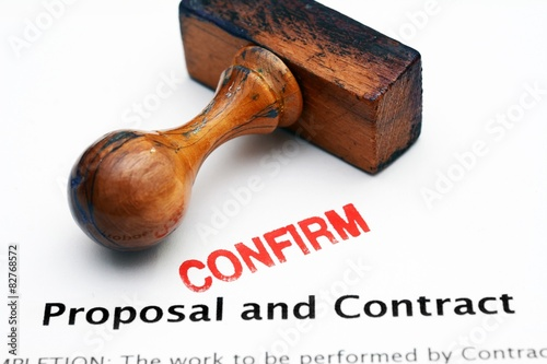 Spoed Foto op Canvas Canada Proposal and contract - confirm