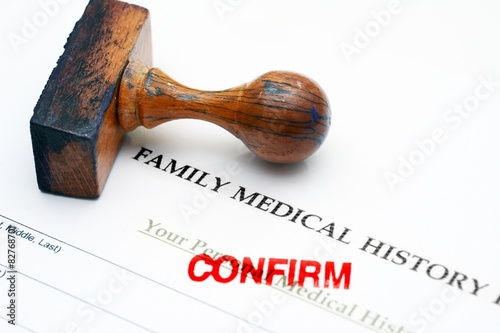 Spoed Foto op Canvas Canada Family medical history - confirm