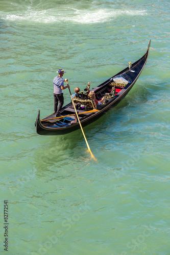 Türaufkleber Gondeln Gondola on Canal Grande in Venice
