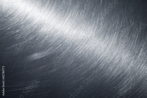 Foto op Canvas Metal Background texture of shining metal surface