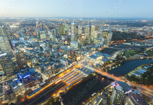 Keuken foto achterwand Seoel View of modern buildings in Melbourne, Australia