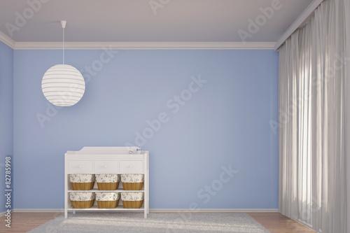 Foto  Kinderzimmer mit Wickeltisch