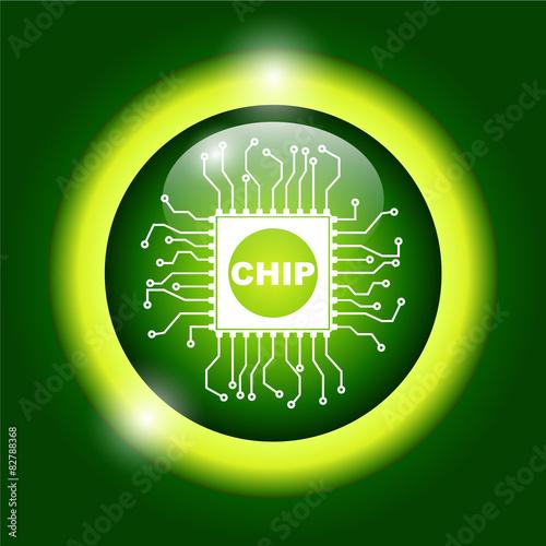 Fotografie, Obraz  Vector chip icon