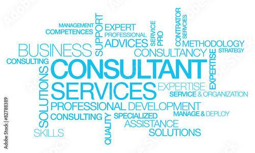 consultant services coaching words tag cloud text - buy this stock