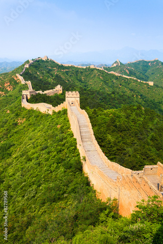 Great wall under sunshine Canvas Print