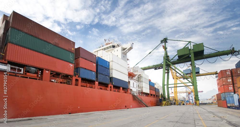 Fototapeta container operation in port