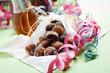 canvas print picture - Sugar donuts