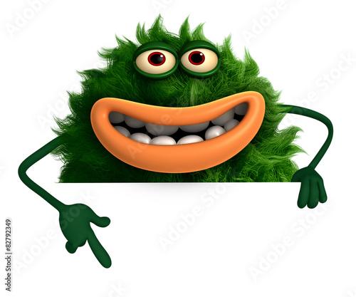 Recess Fitting Sweet Monsters green cartoon hairy monster 3d