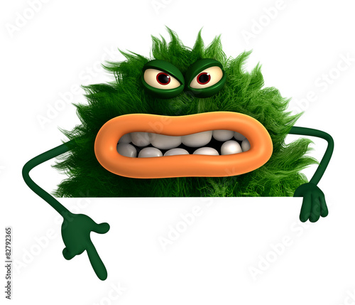Recess Fitting Sweet Monsters green cartoon hairy monster 3d