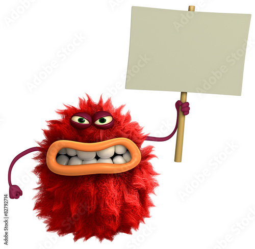 Recess Fitting Sweet Monsters red cartoon hairy monster 3d