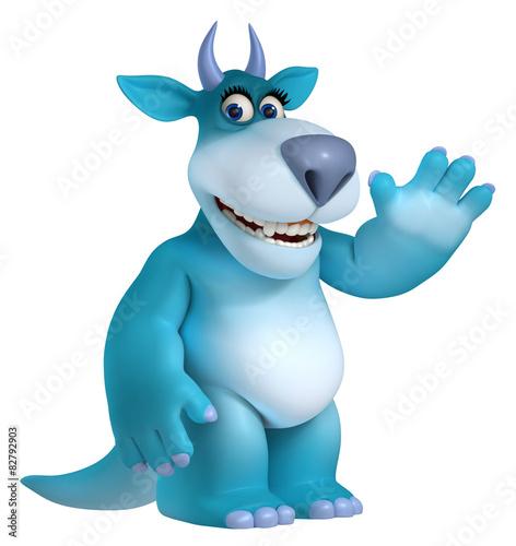 Recess Fitting Sweet Monsters blue cartoon monster 3d