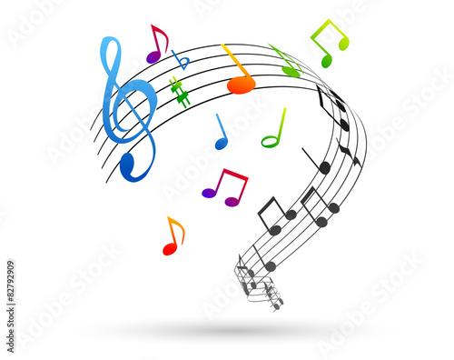 Fotografía  note, note musicali, pentagramma, music