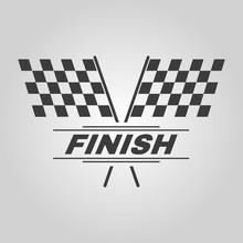 The Race Flag Icon. Finish Symbol. Flat