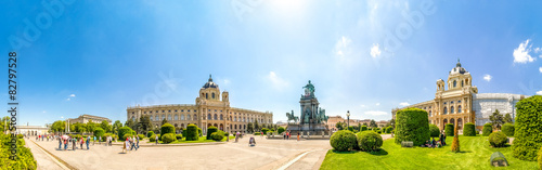Maria Theresien Platz Panorama Wallpaper Mural