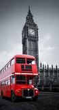 Fototapeta Londyn - London bus und Big Ben